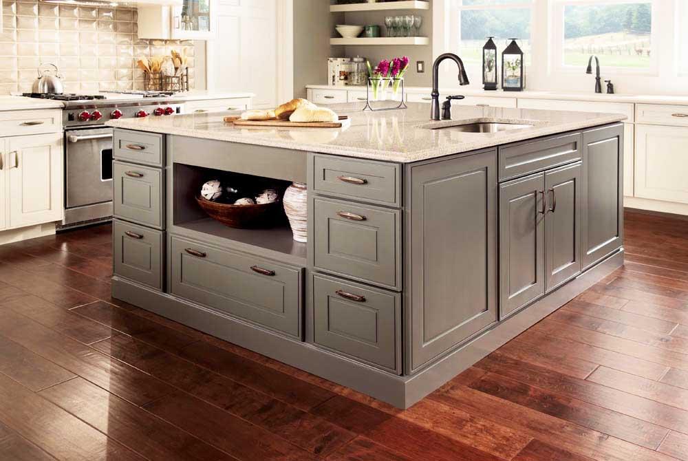 Oak kitchen pantry storage cabinet Photo - 12