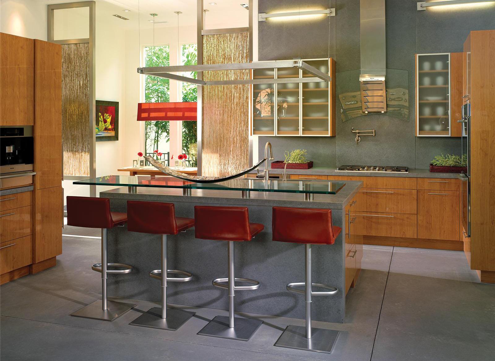 Oak kitchen pantry storage cabinet Photo - 4