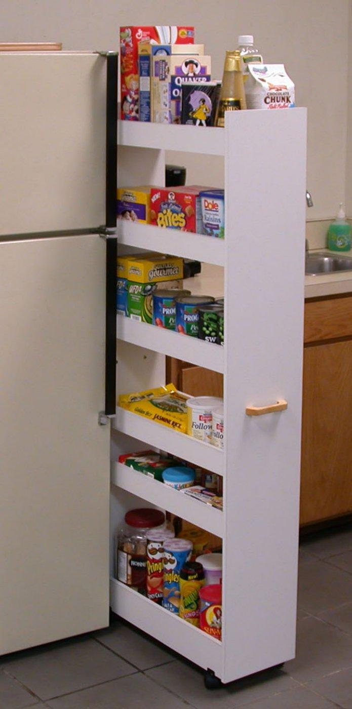 Oak kitchen pantry storage cabinet Photo - 6