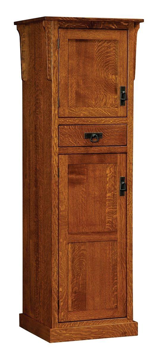 Oak kitchen pantry storage cabinet Photo - 7