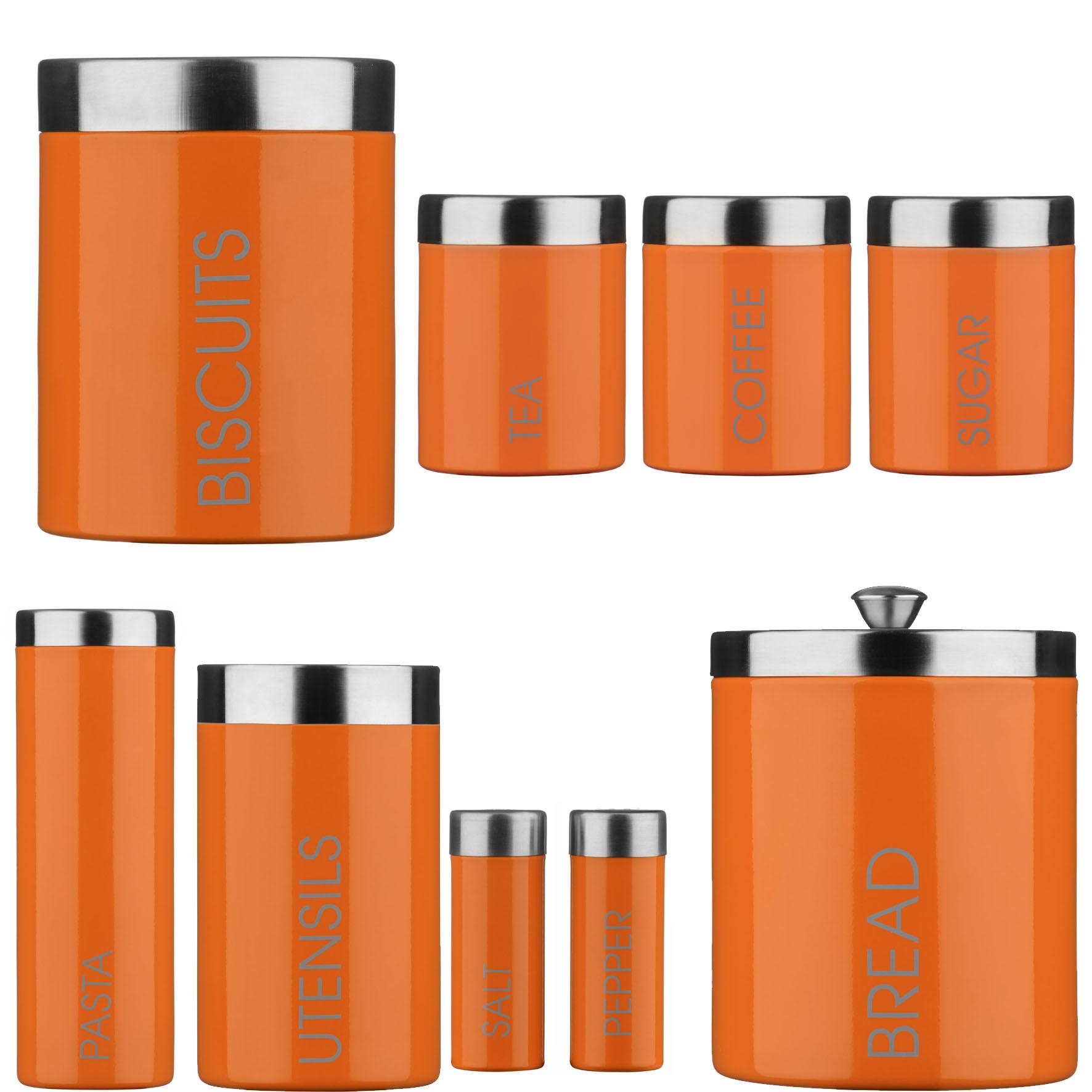 orange kitchen canisters kitchen ideas