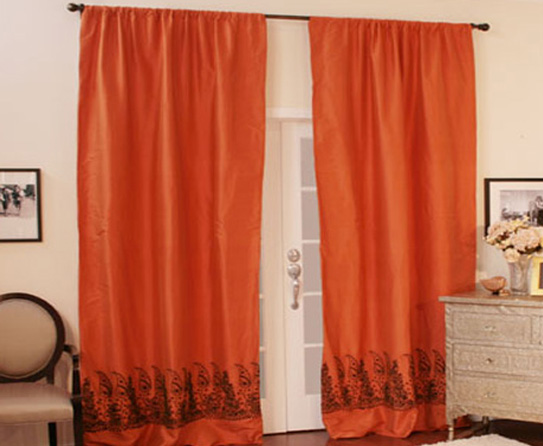 Orange kitchen curtains kitchen ideas - Curtains with orange walls ...