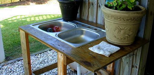 Outdoor kitchen sink station Photo - 1