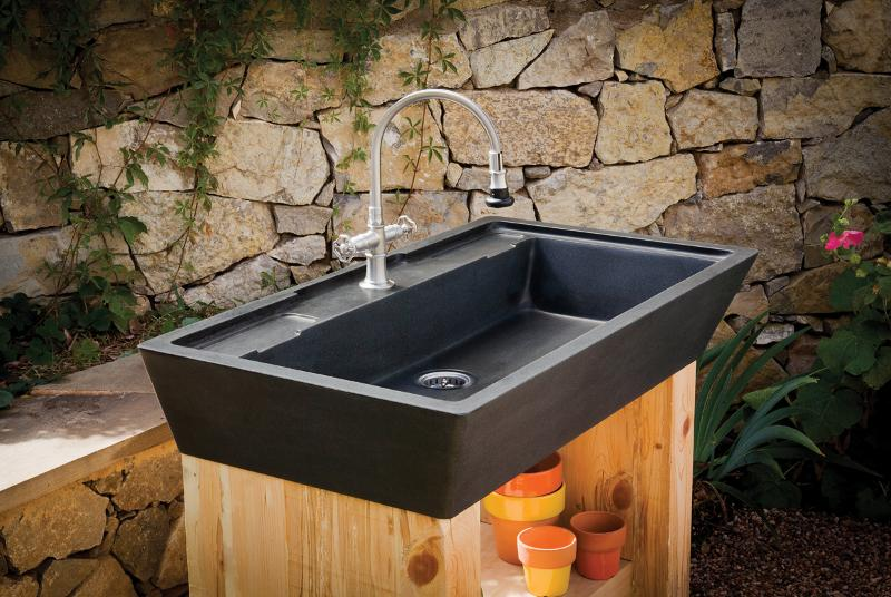 marvelous Outdoor Kitchen Sink Station #3: ... Outdoor kitchen sink station Photo - 7 ...