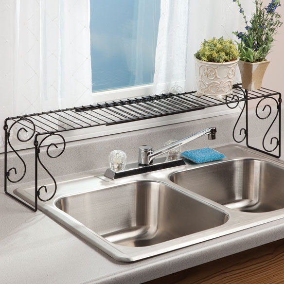Over kitchen sink shelf