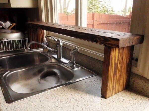 Over sink shelf kitchen Photo - 12