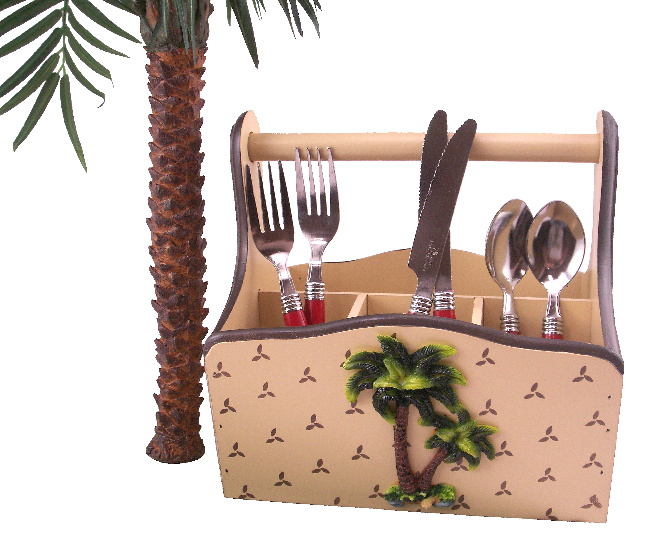 Palm tree kitchen decor kitchen ideas for Palm tree decorations for the home