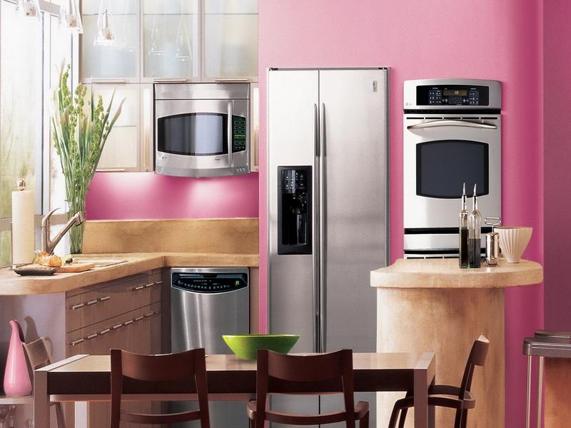 Pink appliances kitchen photo 2 kitchen ideas for Pink kitchen ideas