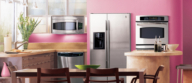 Pink appliances kitchen photo 2 kitchen ideas for Kichan photo