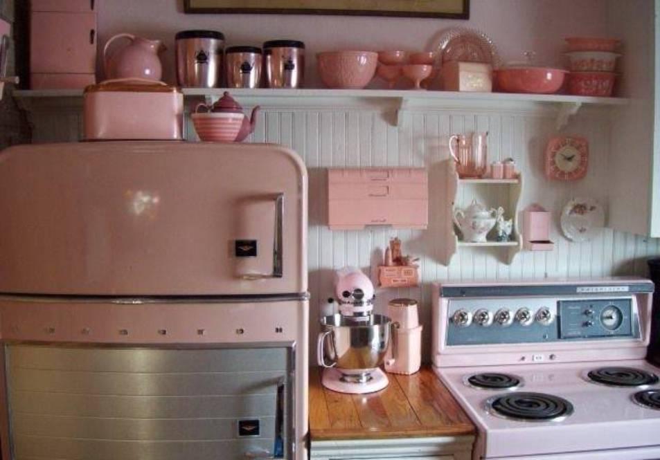 Pink Appliances Kitchen Photo 2 Kitchen Ideas