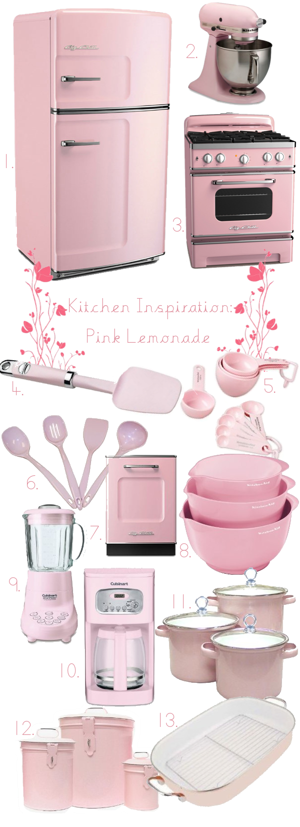 Beau 10 Photos To Pink Kitchen Utensils