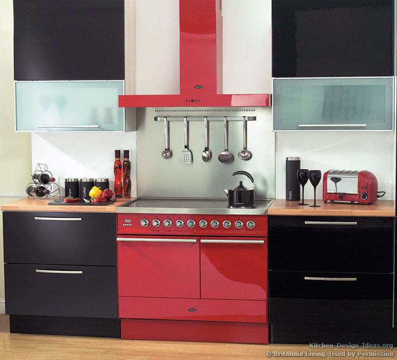 Red and black kitchen accessories   Kitchen ideas