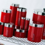 Red kitchen canister sets Photo - 1