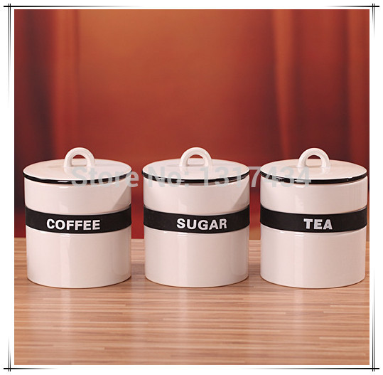 Red kitchen canister sets Photo - 5