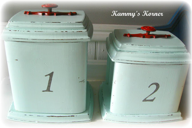 Red kitchen canister sets Photo - 7