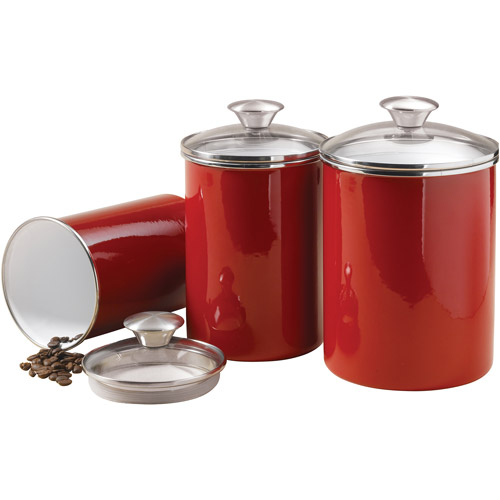 Red kitchen canisters | | Kitchen ideas