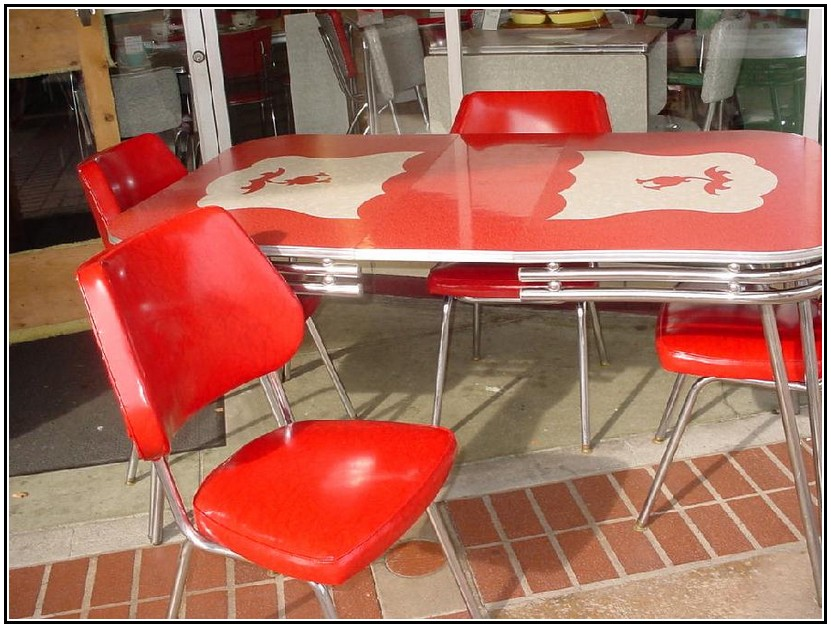 Red kitchen chairs 8