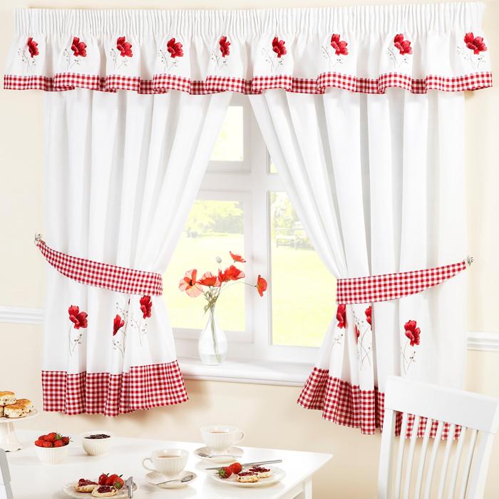 Red Kitchen Curtains Photo U2013 2