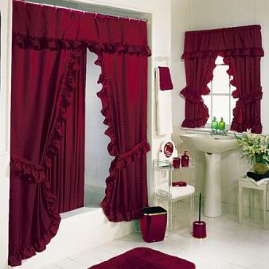 Red Swag Kitchen Curtains Red Kitchen Curtain