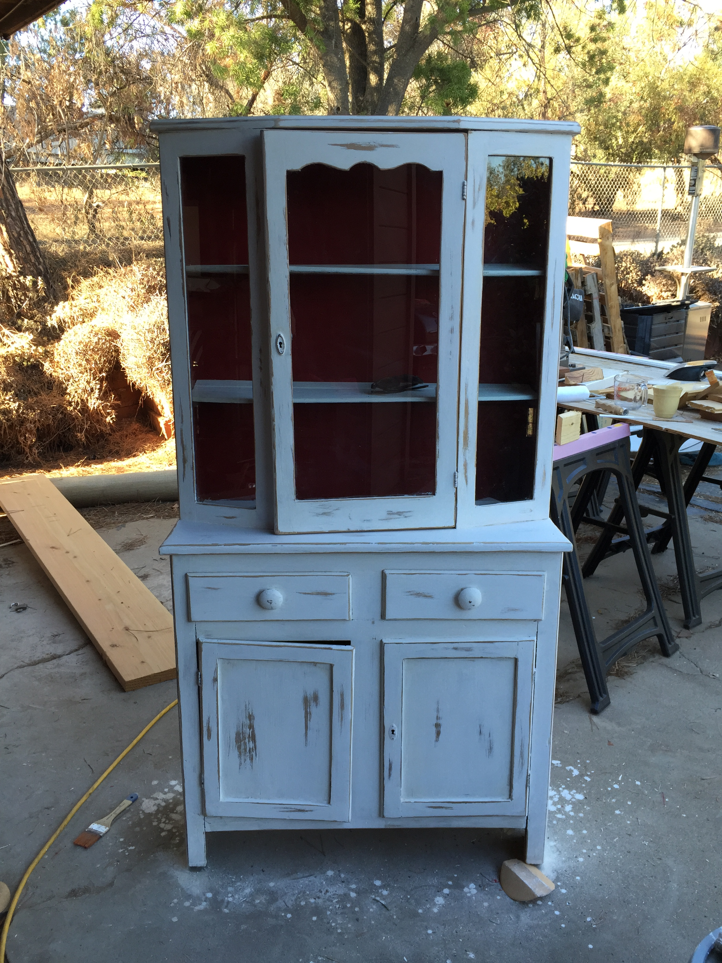 Back To Post: Red Kitchen Hutch