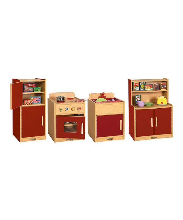 Red Play Kitchen Set red play kitchen | kitchen ideas