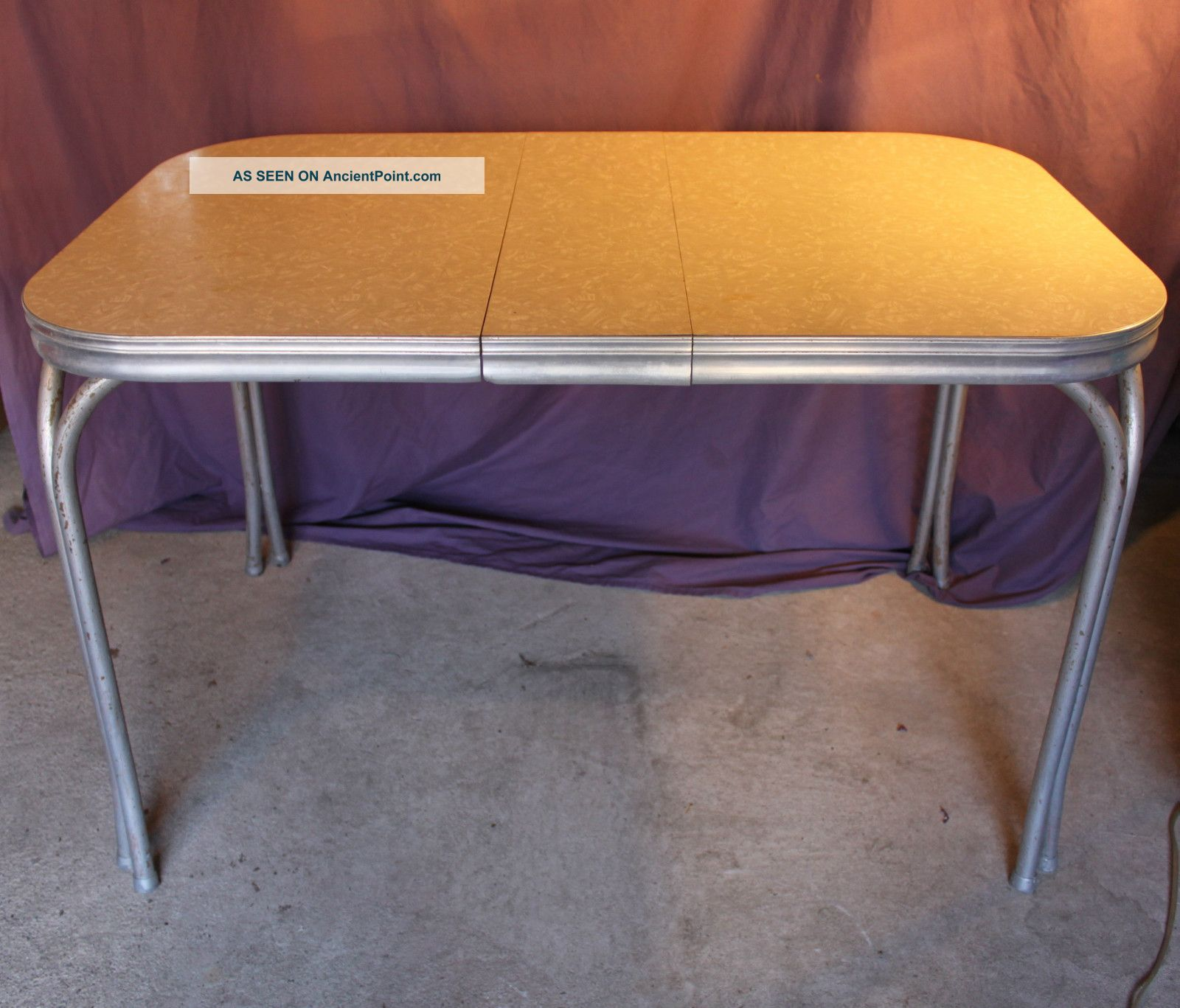 Vintage chrome table and chairs retro chrome and formica for Matching kitchen sets