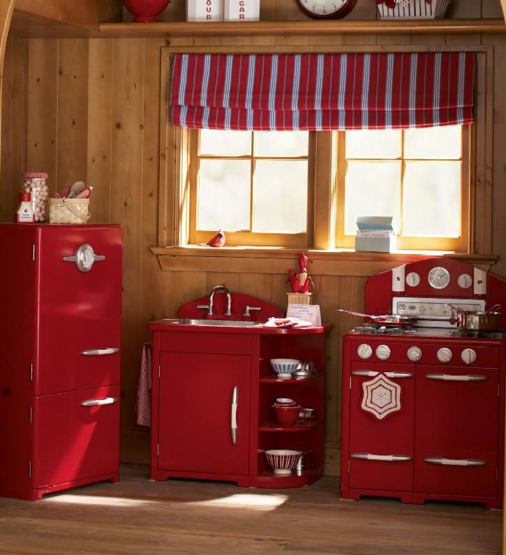 Red Play Kitchen Set retro kitchen sets - home design ideas and pictures