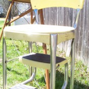 Retro kitchen stool with steps Photo - 1