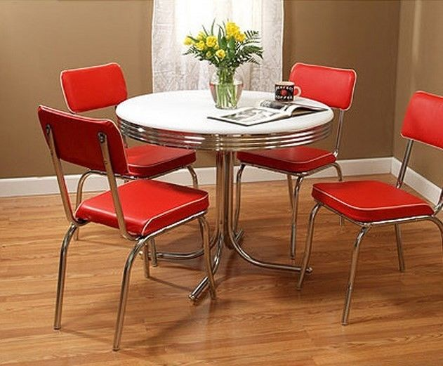 Retro kitchen table and chairs set kitchen ideas for Kitchen set 2015