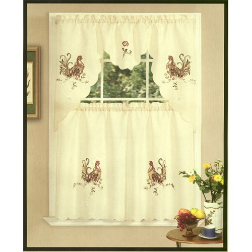 Awesome ... Rooster Curtains For Kitchen Photo   6 ...