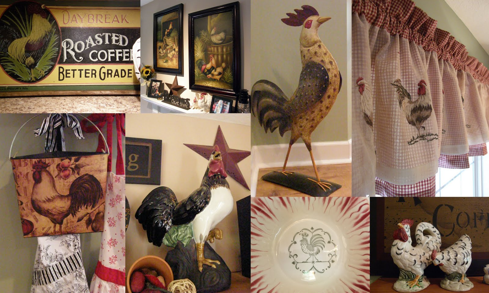 Charming ... Rooster Kitchen Curtains Photo   9 ...