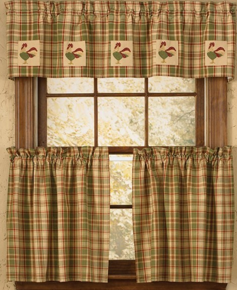 Perfect Rooster Kitchen Curtains Photo U2013 5
