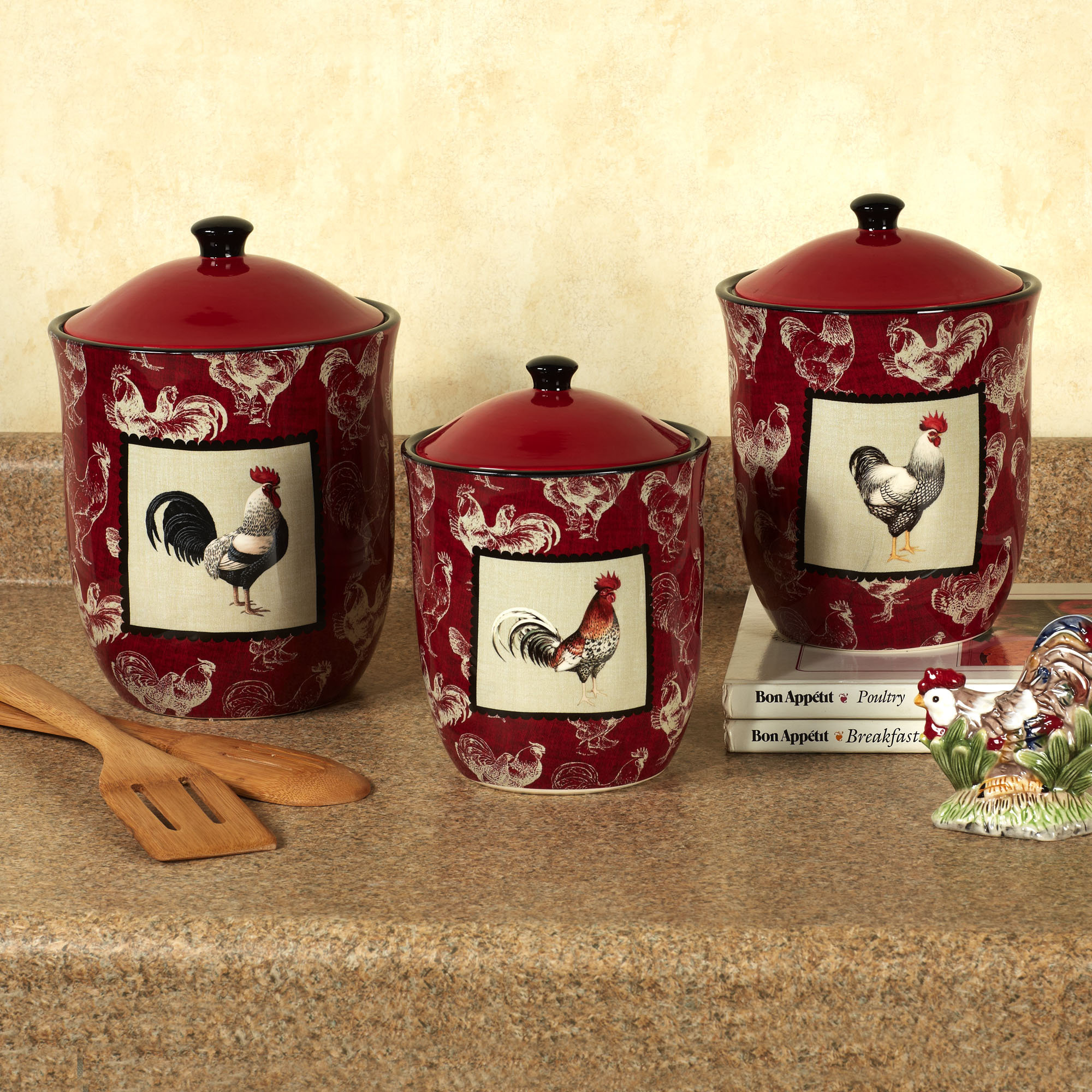 Charming Roosters For Kitchen Decor #8: ... Roosters Kitchen Decor Photo - 6 ...