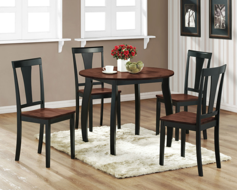 round black kitchen table and chairs photo 5 - Black Kitchen Table