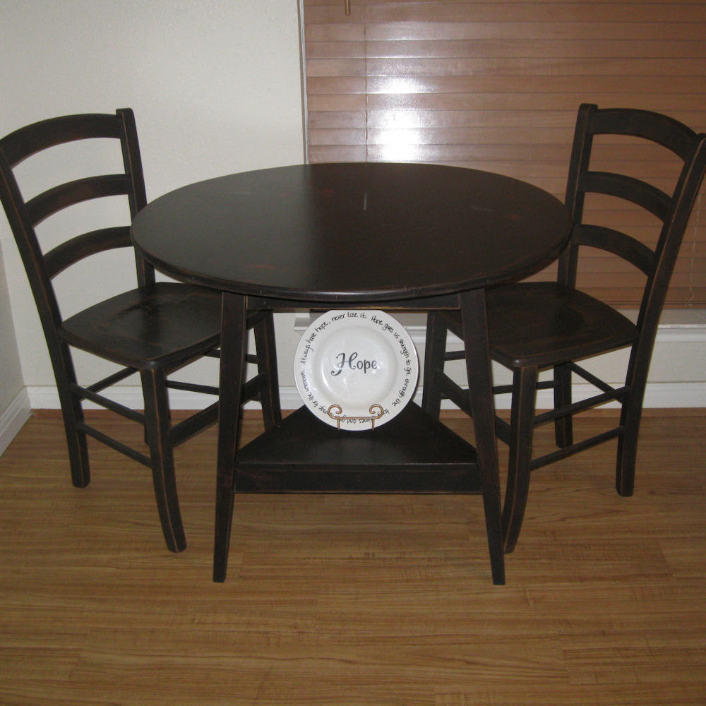 Small black dining tables choice image dining table ideas for Black dining table ideas