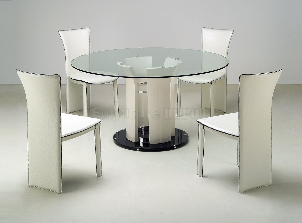 glass kitchen table sets acrylic glass dining table base  - round glass kitchen table sets photo