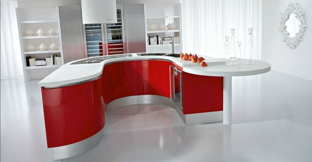 Round kitchen island with seating photo 8 kitchen ideas for Kitchen island with round seating area