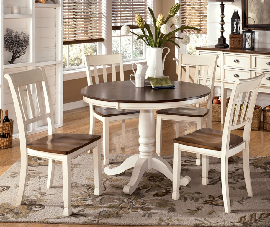 Round Wood Dining Table Living Room Furniture Round Wood Dining