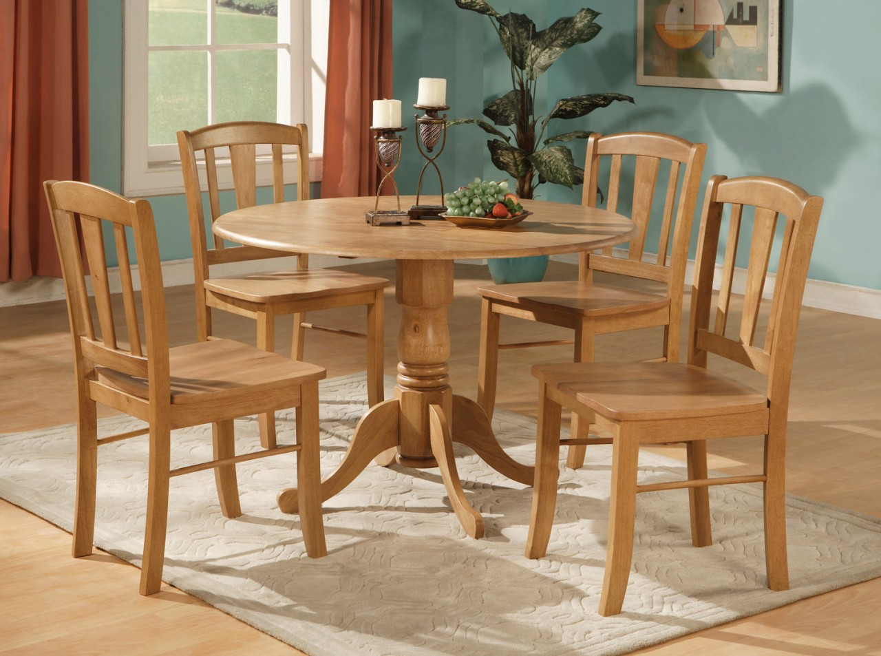 Round Kitchen Table For 8 Round Oak Kitchen Table And Chairs Kitchen Ideas