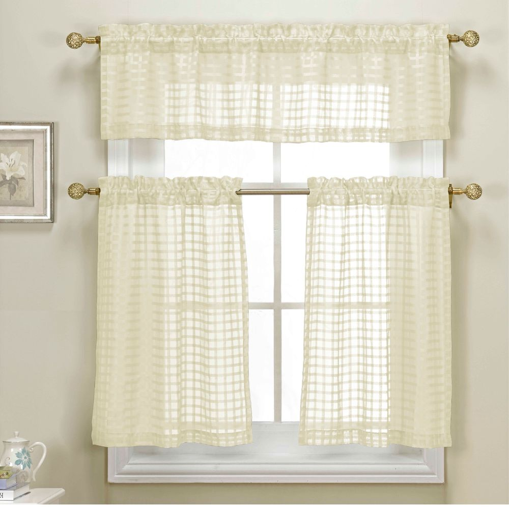 Sheer kitchen curtains photo 2 kitchen ideas for Sheer panel curtain ideas