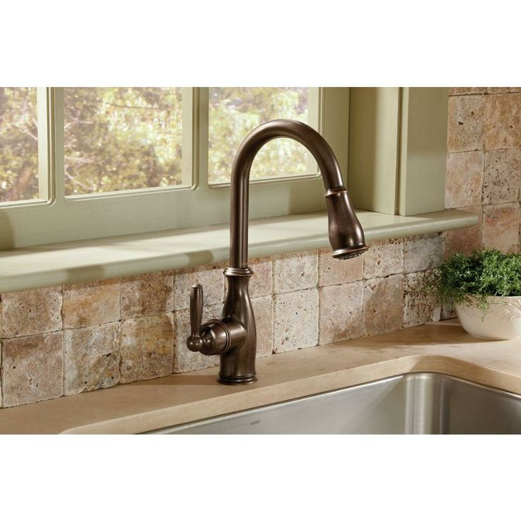 Single handle kitchen faucet with sprayer Photo - 11