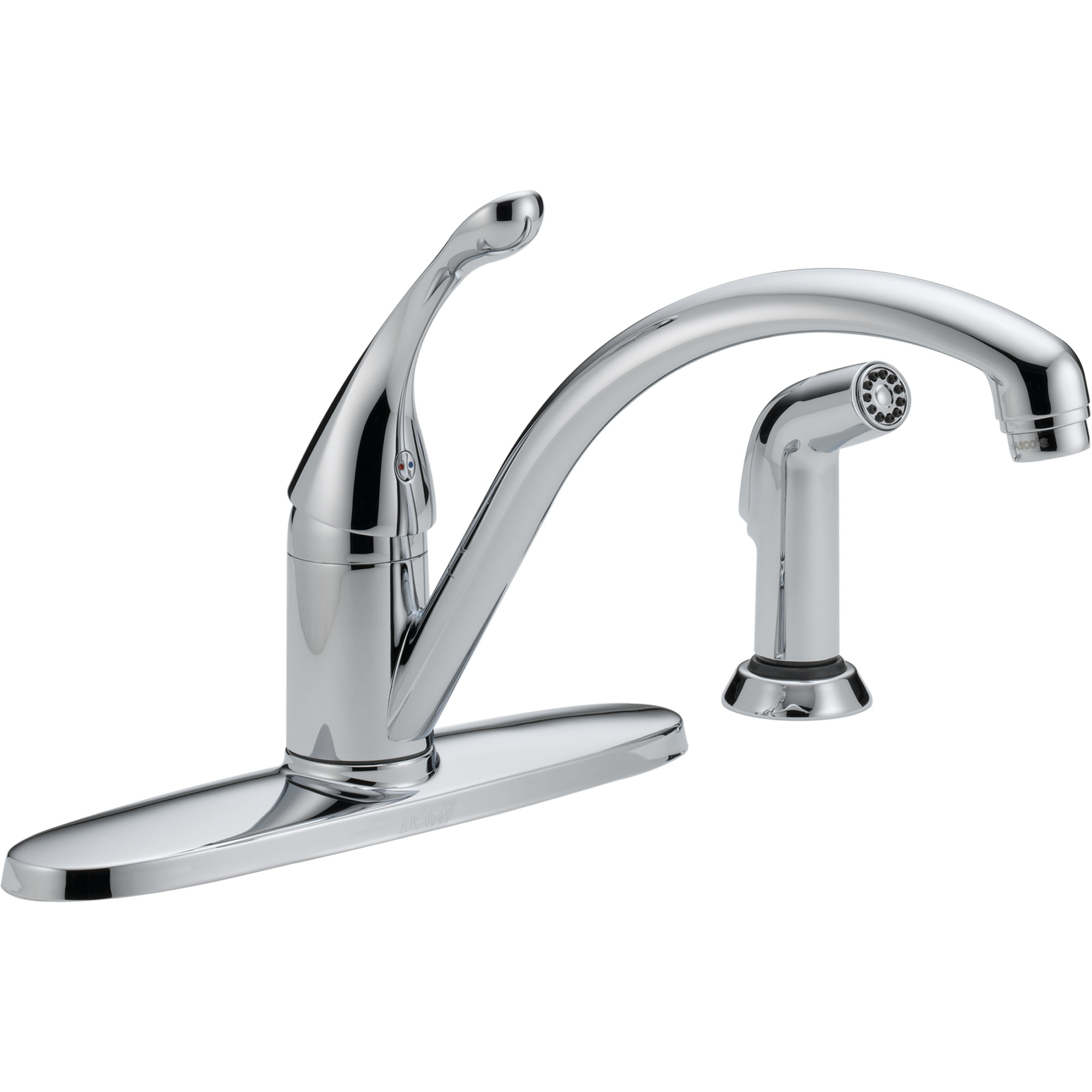 Single handle kitchen faucet with sprayer Photo - 12