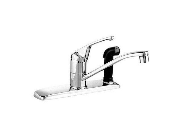 Single handle kitchen faucet with sprayer Photo - 5