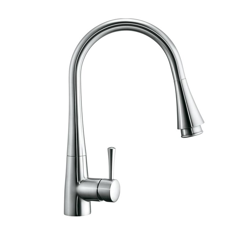 Single handle pullout kitchen faucet Photo - 3