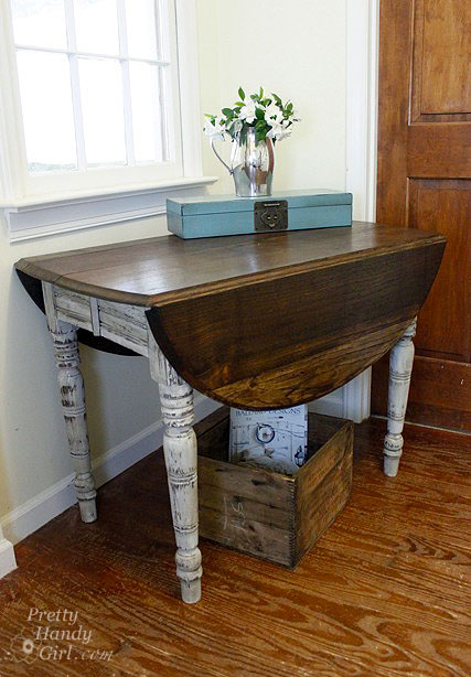 Small drop leaf kitchen table photo 10 kitchen ideas for Drop leaf table ideas