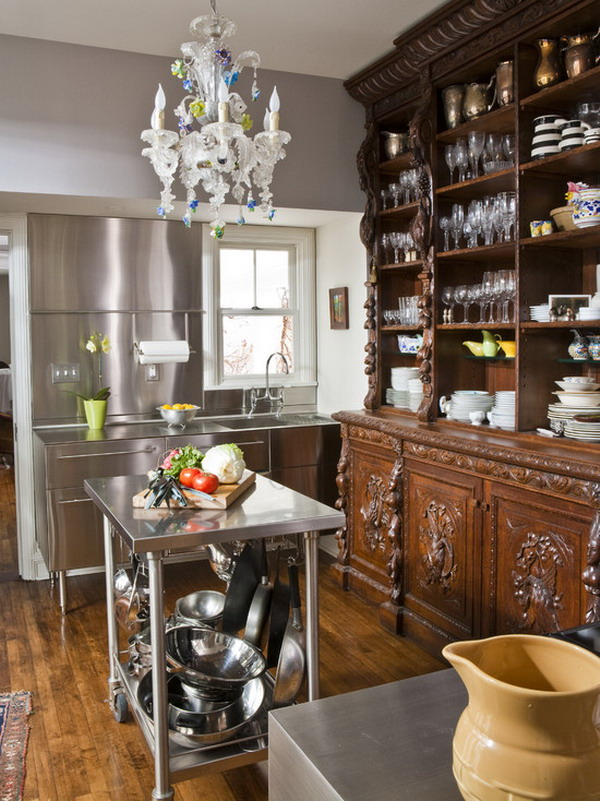 Small kitchen island cart Photo - 9