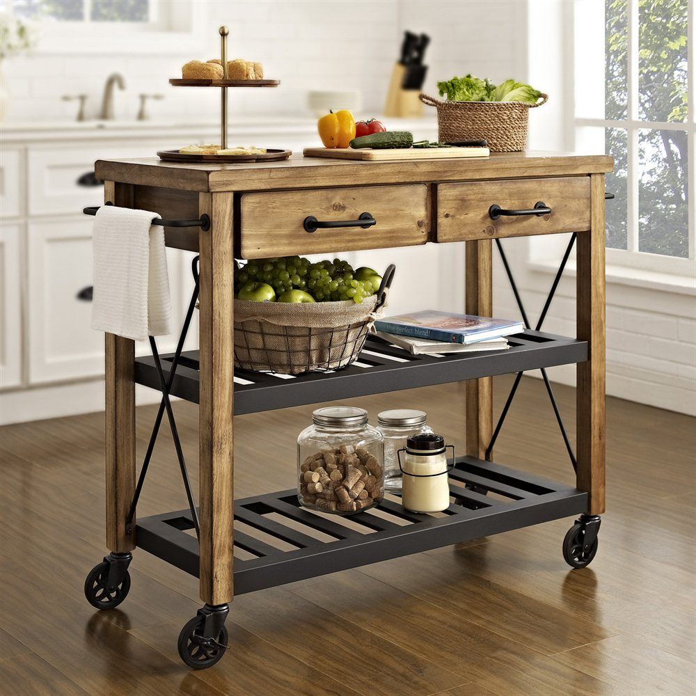 Small kitchen island cart Photo - 8