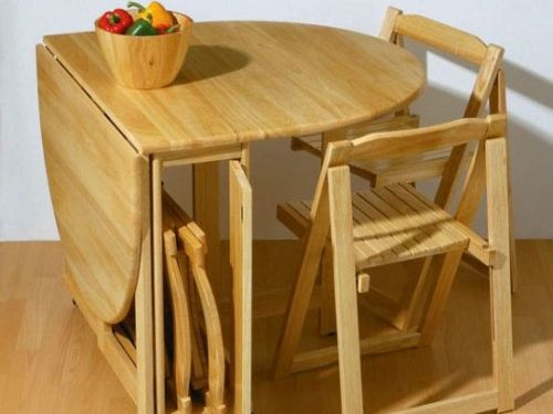 ... Space saving kitchen table and chairs Photo - 4 ...