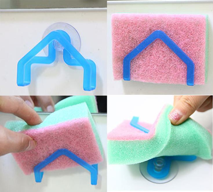 Sponge holder for kitchen sink Photo - 2