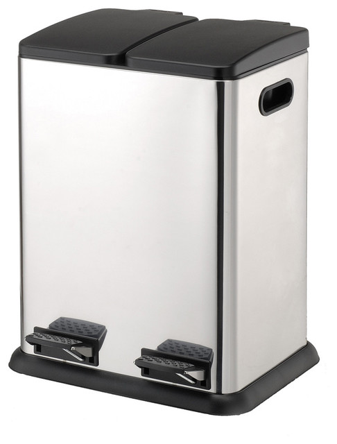 Stainless steel kitchen trash can Photo - 1